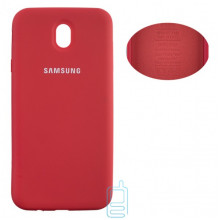 Чехол Silicone Cover Full Samsung J7 2017 J730 красный