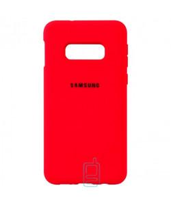 Чехол Silicone Case Full Samsung S10E G970 красный
