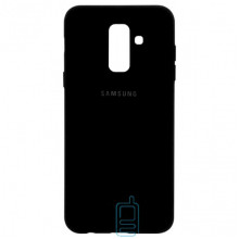 Чехол Silicone Case Full Samsung A6 Plus 2018 A605 черный