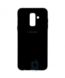 Чехол Silicone Case Full Samsung A6 Plus 2018 A605 черный