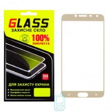 Защитное стекло Full Screen Samsung J4 2018 J400 gold Glass