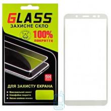 Защитное стекло Full Glue Samsung J6 2018 J600 white Glass