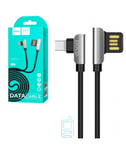 USB кабель Hoco U42 ″Exquisite steel″ Type-C 1.2m черный