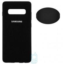 Чехол Silicone Cover Full Samsung S10 G973 черный