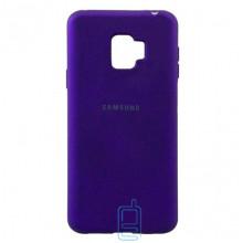 Чехол Silicone Case Full Samsung J2 2018 J250, J2 Pro 2018  фиолетовый