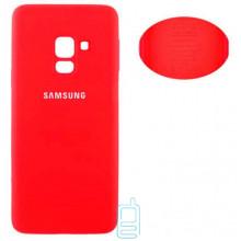 Чехол Silicone Cover Full Samsung J6 2018 J600 красный