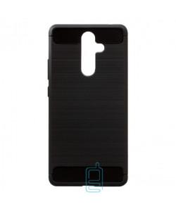 Чехол силиконовый Polished Carbon Nokia 7 Plus черный