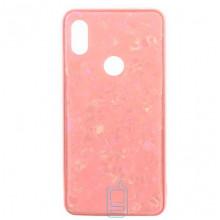 Чехол накладка Glass Case Мрамор Xiaomi Redmi S2, Y2 розовый