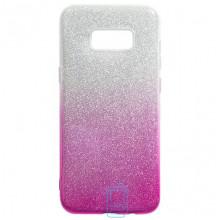Чехол силиконовый Shine Samsung S8 Plus G955 градиент розовый