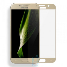 Защитное стекло Full Screen Samsung A3 2017 A320 gold тех.пакет
