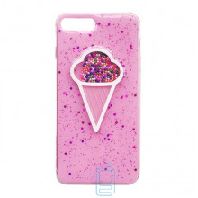 Чехол силиконовый Ice cream Apple iPhone 7 Plus, 8 Plus розовый