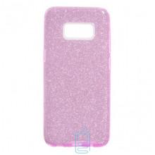 Чехол силиконовый Shine Samsung S8 Plus G955 розовый