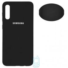 Чехол Silicone Cover Full Samsung A70 2019 A705 черный