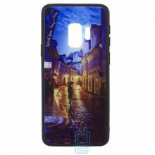 Чехол накладка Glass Case New Samsung S9 G960 переулок