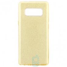 Чехол силиконовый Shine Samsung Note 8 N950 золотистый