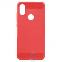 Чехол силиконовый Polished Carbon Xiaomi Mi6x, Mi A2 красный