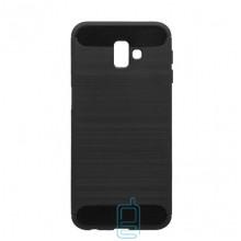 Чехол силиконовый Polished Carbon Samsung J6 Plus 2018 J610 черный