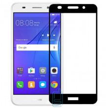Защитное стекло Full Screen Huawei Y3 2017, Y3 2018 black тех.пакет