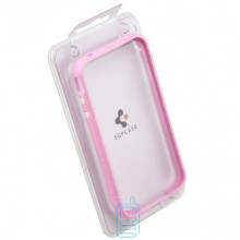 Чехол-бампер пластиковый Apple iPhone 4 розовый