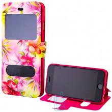 Чехол-книжка Flower Case 2 окна Meizu M2 Lilium yellow pink