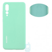 Чехол Silicone Cover Full Huawei P20 Pro, P20 Plus бирюзовый