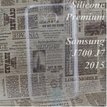 Чехол силиконовый Premium Samsung J7 2015 J700, J7 Neo J701 прозрачный