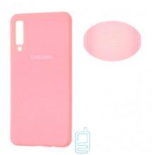 Чехол Silicone Cover Full Samsung A7 2018 A750 розовый