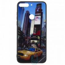 Чехол накладка Glass Case New Huawei Honor 7C Pro, Nova 2 Lite, Y7 2018, Y7 Prime 2018 такси