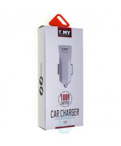 Автомобильное зарядное устройство EMY MY-110 1USB 1.0A micro-USB white