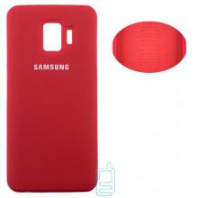 Чехол Silicone Cover Full Samsung J2 Core 2018 J260 красный