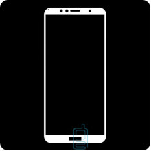 Защитное стекло 5D Huawei Y6 2018, Y6 Prime 2018, Honor 7A Pro, white тех.пакет