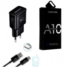 Сетевое зарядное устройство Samsung A10 Fast charger 5V-2A 9V-1.6A 2in1 Type-C black