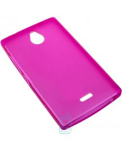 Чехол силиконовый цветной Nokia X2 Dual Sim розовый
