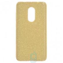 Чехол силиконовый Shine Xiaomi Redmi Note 4x золотистый