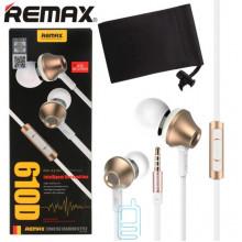 Наушники с микрофоном Remax RM-610D золотистые
