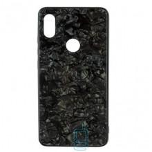 Чехол накладка Glass Case Мрамор Xiaomi Redmi 6Pro, A2 Lite черный
