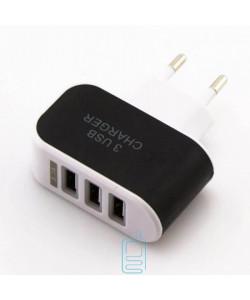 Сетевое зарядное устройство 3USB 3.1A black