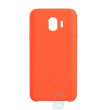 Чехол Silicone Case Original Samsung J4 2018 J400 оранжевый (13)