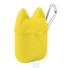 Футляр для наушников Airpod Dog желтый