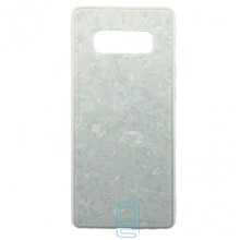 Чехол накладка Glass Case Мрамор Samsung Note 8 N950 белый