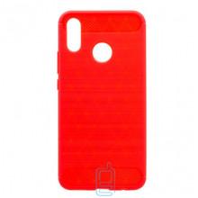 Чехол силиконовый Polished Carbon Huawei P Smart Plus, Nova 3i красный