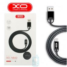 USB кабель XO NB42 Type-C 1m серый