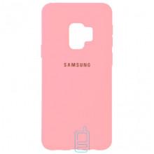 Чехол Silicone Case Full Samsung S9 G960 розовый