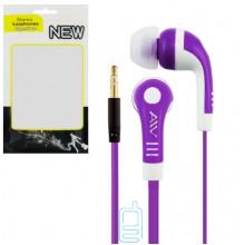 Наушники AIV - W в пакете фиолетовые