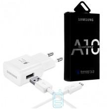Сетевое зарядное устройство Samsung A10 Fast charger 5V-2A 9V-1.6A 2in1 micro-USB white