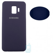 Чехол Silicone Cover Full Samsung J2 Core 2018 J260 синий