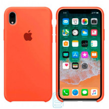 Чехол Silicone Case Apple iPhone XR оранжевый 13