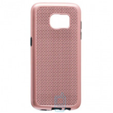 Чехол-накладка GINZZU Carbon X1 Samsung S7 Edge G935 розовый