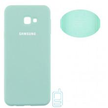 Чехол Silicone Cover Full Samsung J4 Plus 2018 J415 бирюзовый