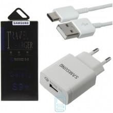 Сетевое зарядное устройство Samsung S9 Fast charger 800EWE 1USB 2.0A Type-C white картон